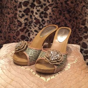 Guess high heels, basket print, 7.5M